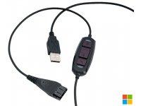 AxTel Headsetkabel (QD / USB C4)