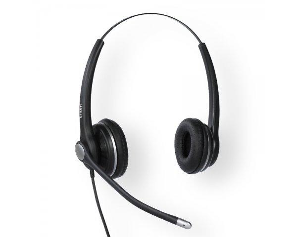 snom A100D Headset Binaurales Breitband-Headset 4342